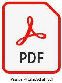 PDF passive Mitgliedschaft